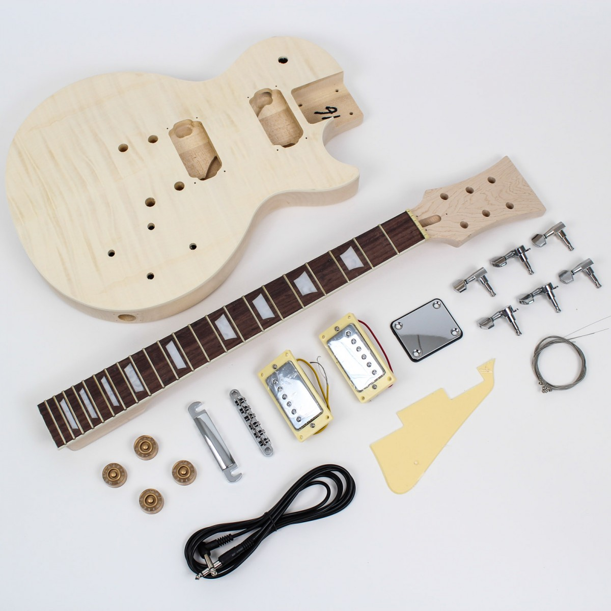 les paul style guitar kit flame maple diy guitars. Black Bedroom Furniture Sets. Home Design Ideas