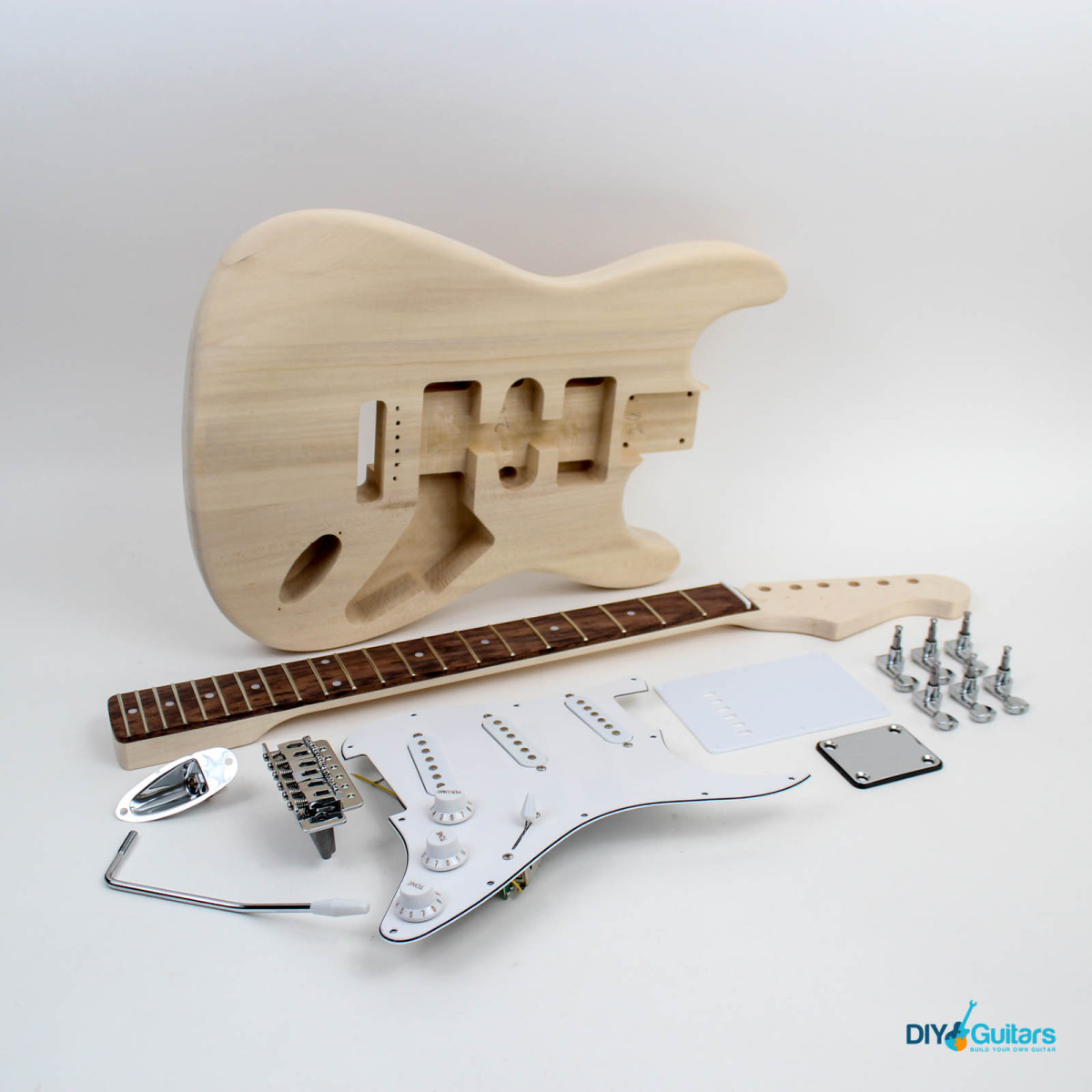 Fender stratocaster style guitar kit diy guitars strt guitar kit 14 variations solutioingenieria Image collections