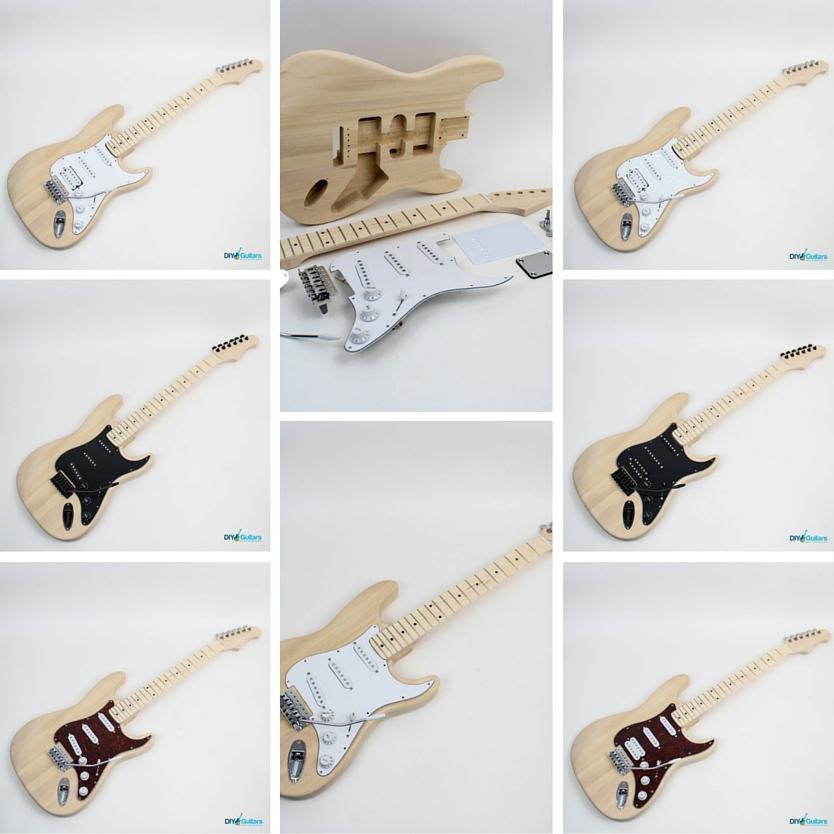 Fender Stratocaster DIY Electric Guitar Kit Maple fretboard variations