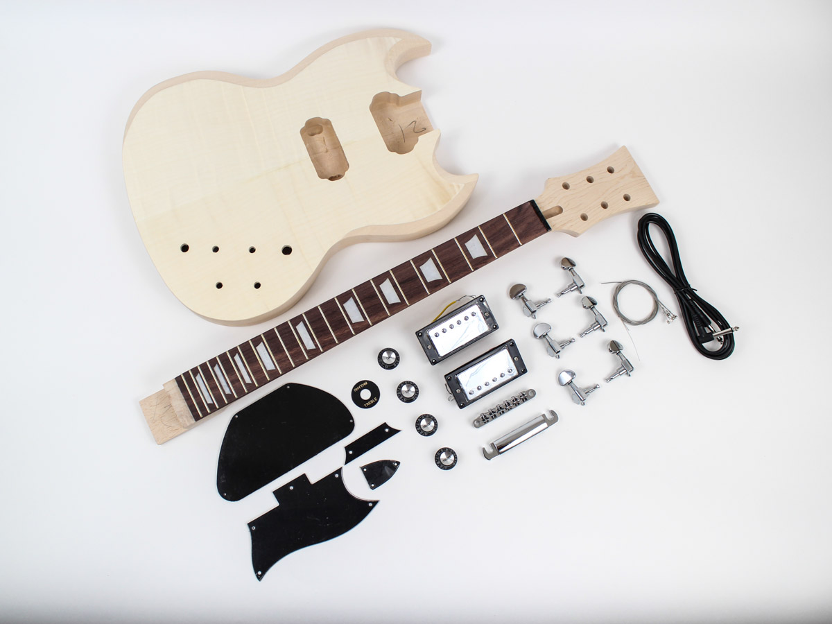 Gibson SG Guitar Kit - major components