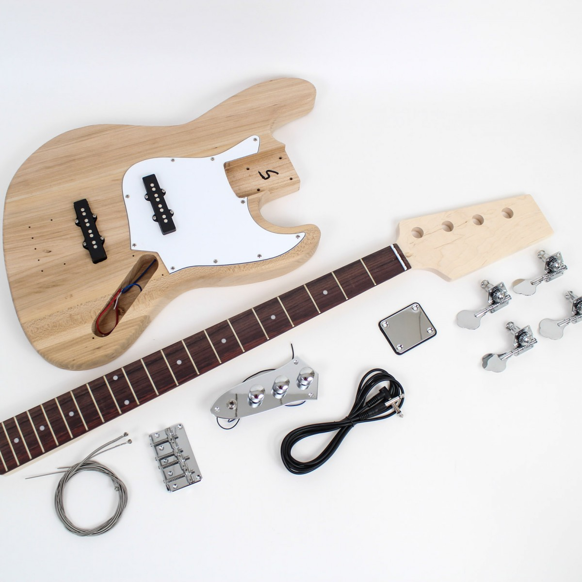 jazz bass style guitar kit lefty diy guitars. Black Bedroom Furniture Sets. Home Design Ideas