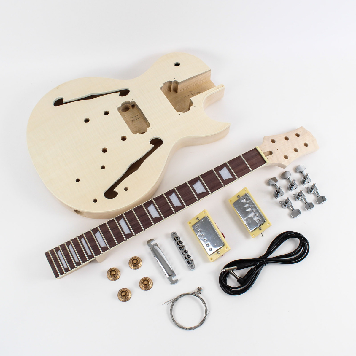 les paul semi hollow body diy guitar kit diy guitars. Black Bedroom Furniture Sets. Home Design Ideas