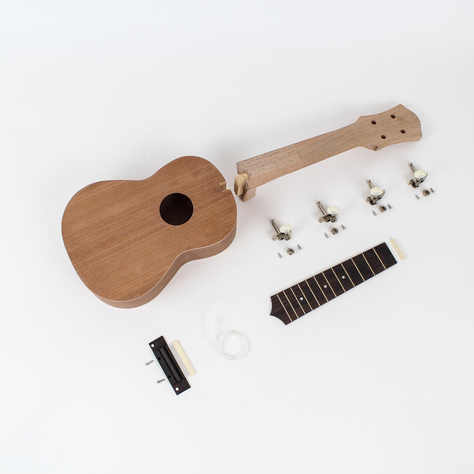 Ukulele kits diy guitars ukulele kit mahogany body 7900 diy ukulele kit solutioingenieria Images