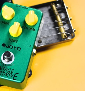 Joyo Vintage Drive effects pedal JF-01 connected view