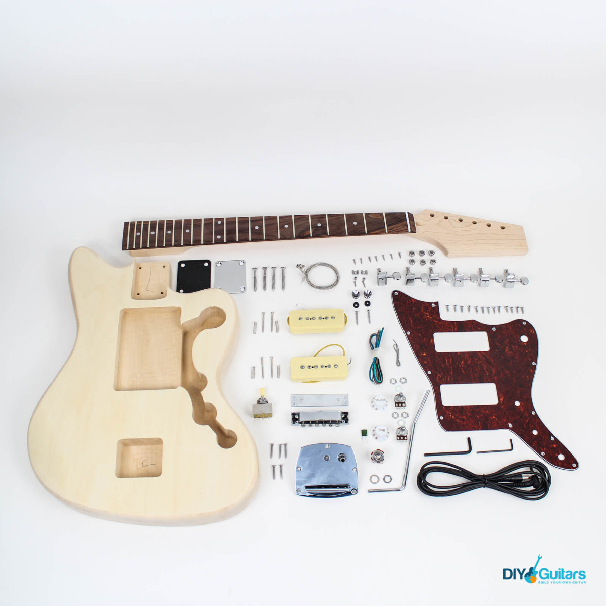 Jazzmaster style guitar kit diy guitars headstock complete kit contents solutioingenieria Image collections