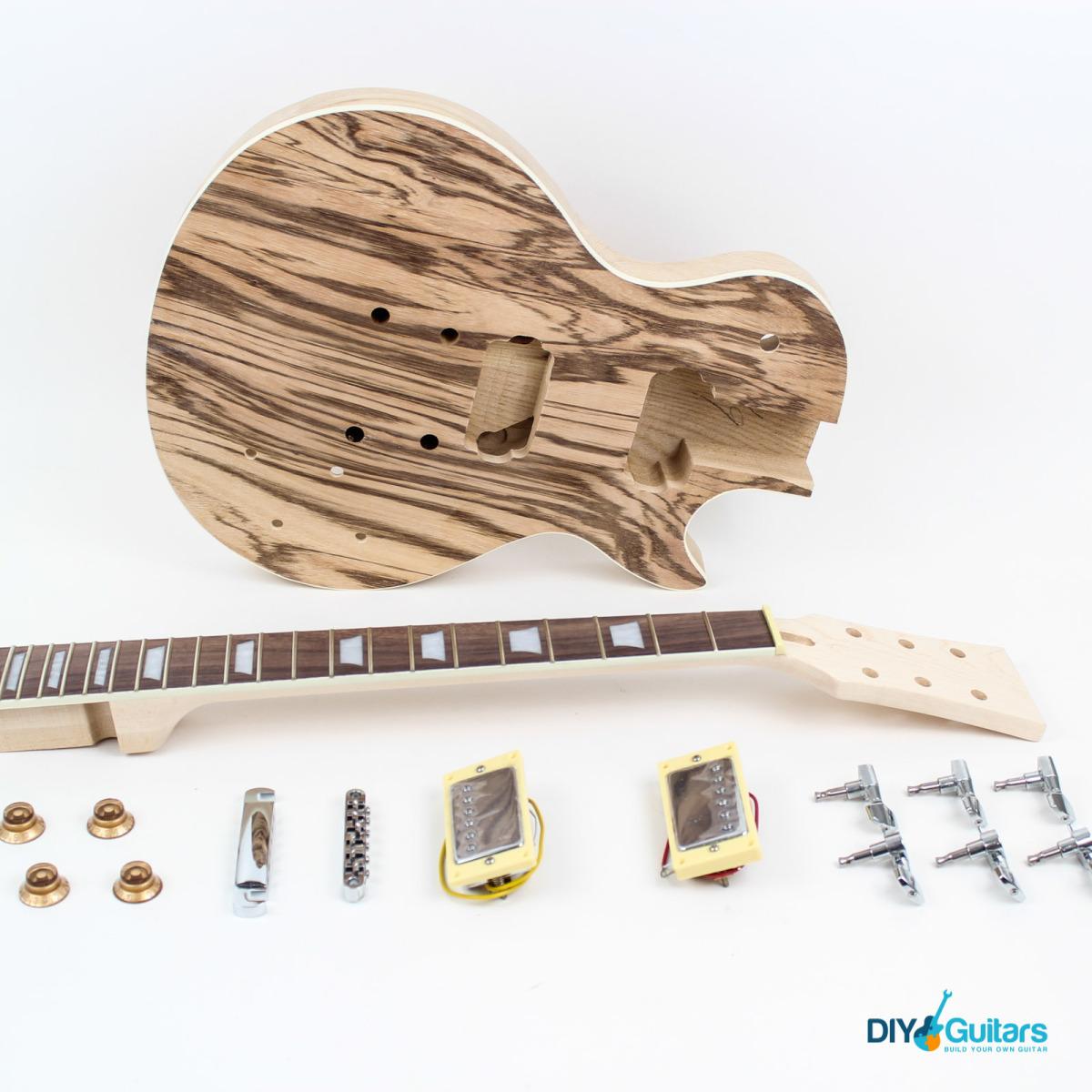 Les paul style guitar kit ash diy guitars main components solutioingenieria Image collections