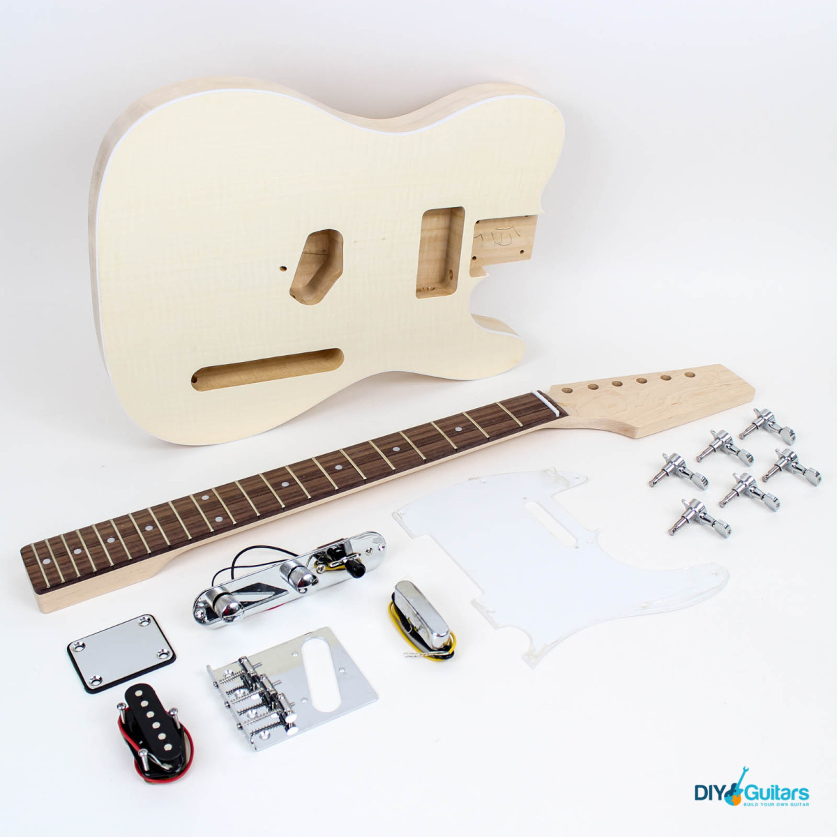 TLCT Guitar Kit Flame Maple Top - DIY Guitars