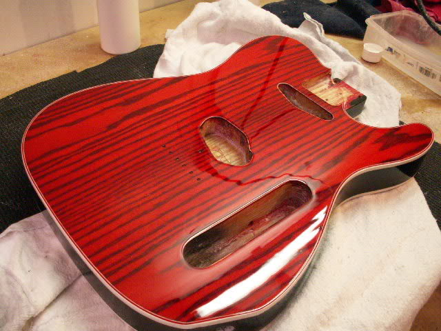 Cherry Red Colortone Stain Diy Guitars