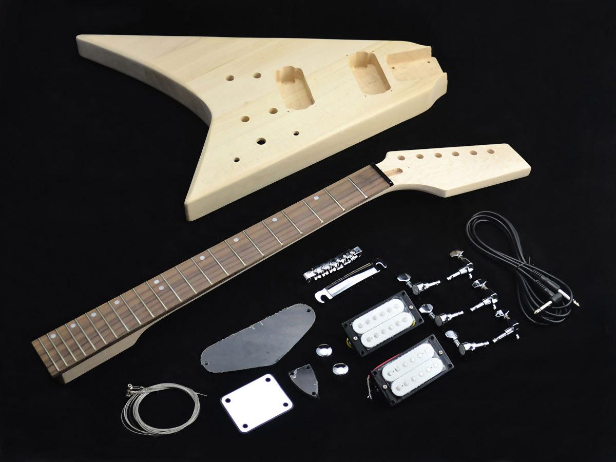 flying v style guitar kit gfv 20 diy guitars. Black Bedroom Furniture Sets. Home Design Ideas