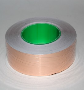 copper shielding tape on a roll