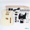 Full kit contents - black with maple fretboard
