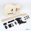 Main components - black with maple fretboard