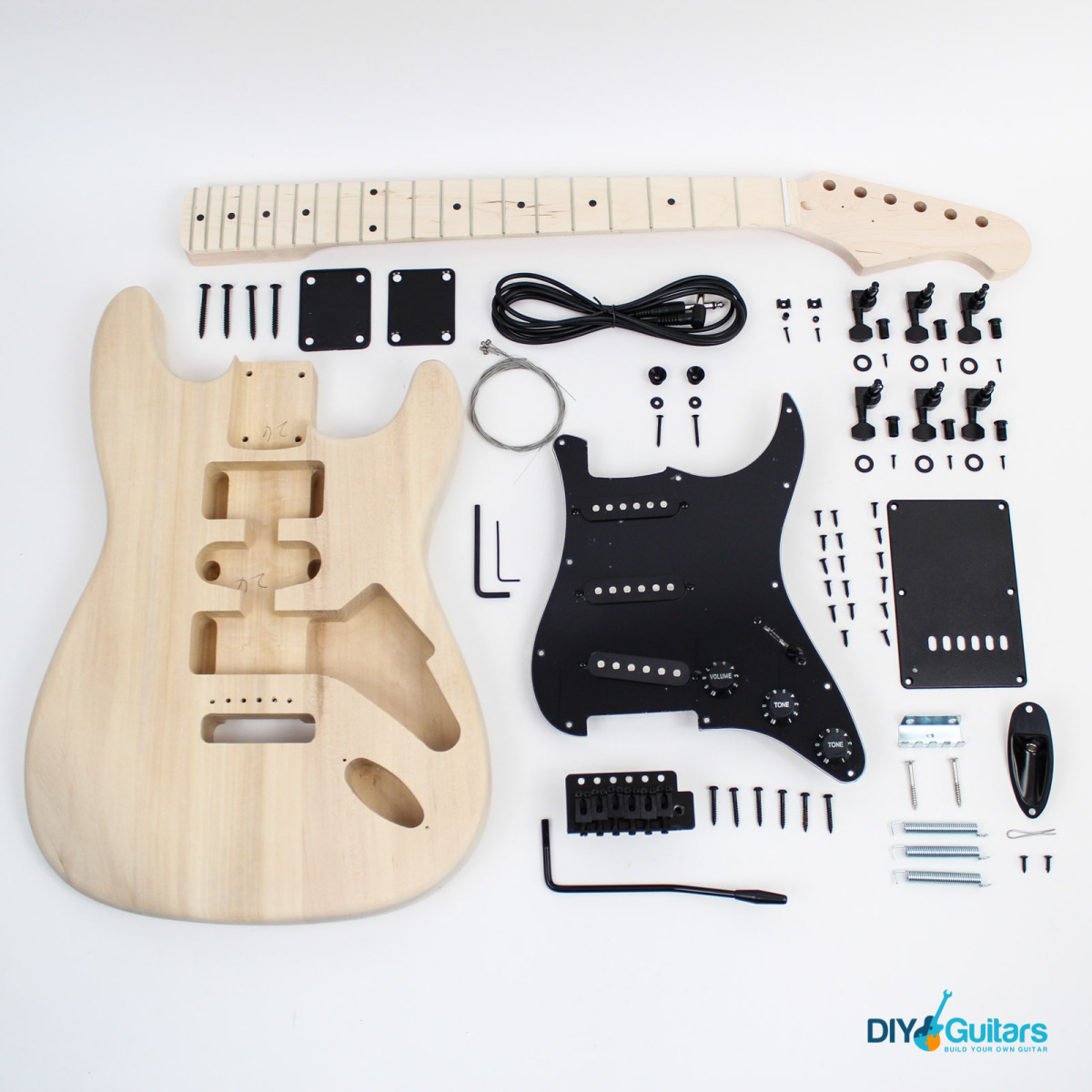 fender stratocaster style guitar kit diy guitars. Black Bedroom Furniture Sets. Home Design Ideas