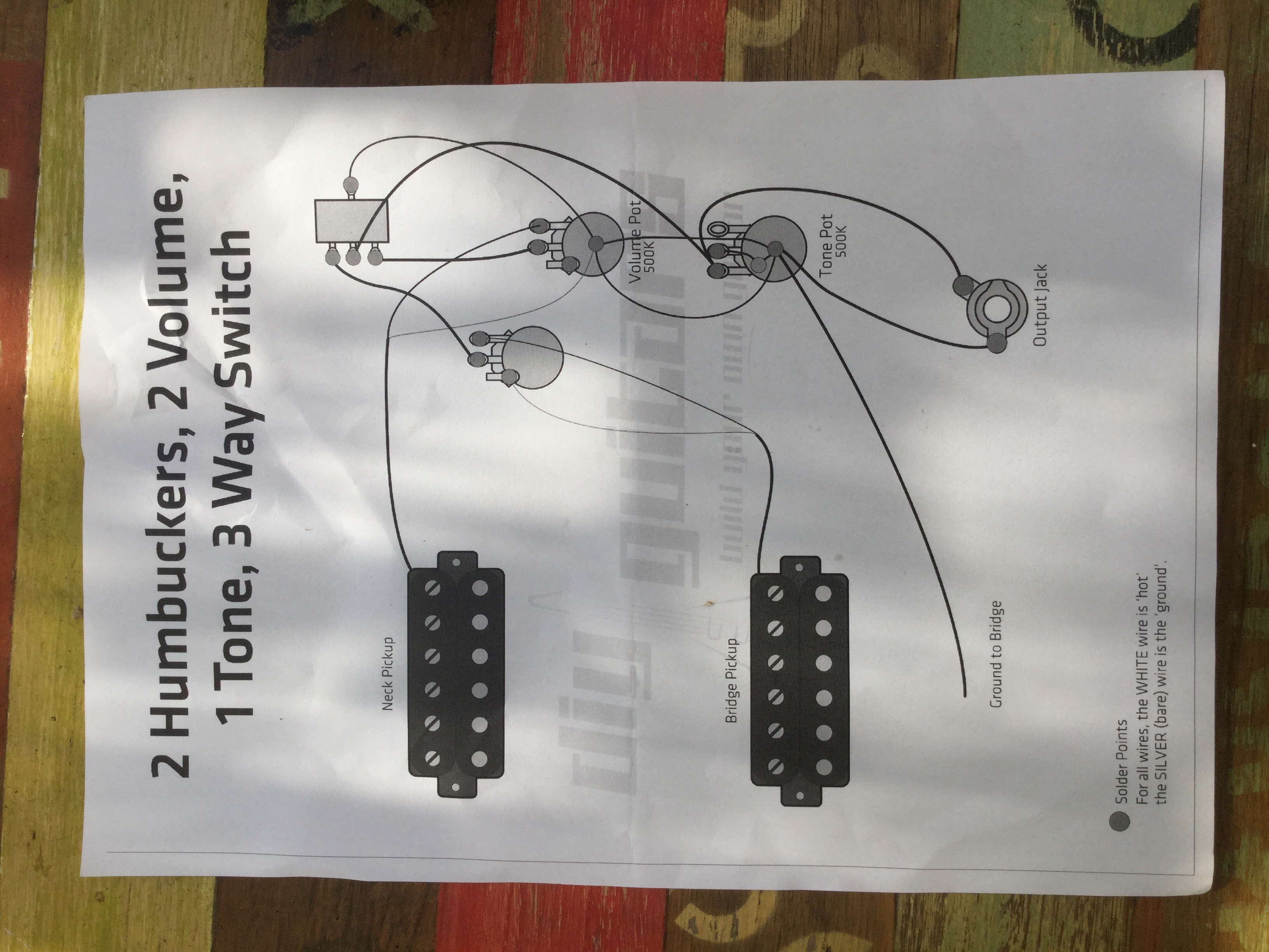 Guitar Flying V Wiring Diagram Easy Diagrams Pot For Diy Guitars Rh Diyguitars Com Au Potentiometer Connection Harness